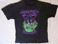 Testament T-shirt 1990 Practice What You Preach USA Tour Envy Life Used holes