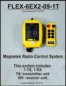 Magnetek Flex 6EX2-09-1T Overhead Crane Hoist Radio Remote Control System w/1-TX