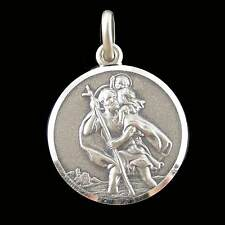 Brand New Solid Sterling Silver 10mm Saint Christopher Medal Pendant