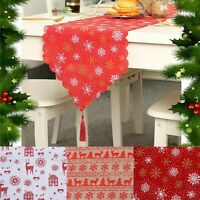 Christmas Table Runner 1.8m Long Embroidered Xmas Decoration Cloth Festive Cover