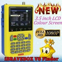 1080P V8 Digital Satellite TV Signal Finder Freesat DVB-S2 FTA LNB Signal Meter