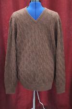NWT Mens XXL Daniel Cremieux Brown 100% ALPACA V-Neck Sweater New $150+