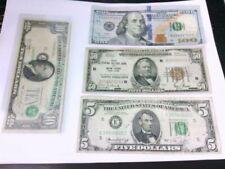 Lot of $5, $10, $50 FRN, & $100 Bills- Some w/ Errors (Misalignment, Etc.)