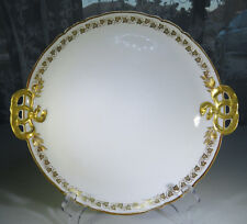 Vintage Porcelain Field Haviland Limoges GOA France Handle Tray vine leave Gold