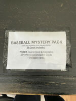 Baseball Card Mystery HOT Pack (3 GUARANTEED AUTOS)