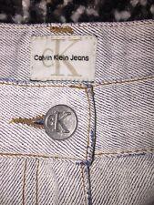 Para mujer CALVIN KLEIN Piedra Lavada A-Line Maxi Falda De Mezclilla Talla 10 W30 L30 Exc