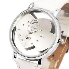 Heart Skeleton Design Cute Girl Lady Women Quartz Wrist Watch Bracelet Relogio