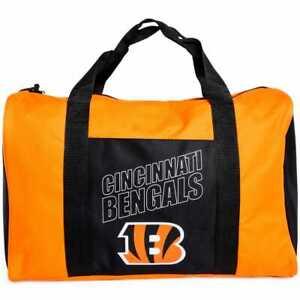 Cincinnati Bengals Duffel Bag Gym Bag Overnight Bag 18x12x8 NFL