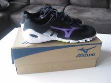 Mizuno Wave Evo Levitas Womens,Size  US8.5, Black/Purple/White, Brand New in Box