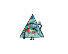 "3"" Bloodshot EYE Pyramid iron-on Patch Hangover Providence Boho Hipster Hippie"