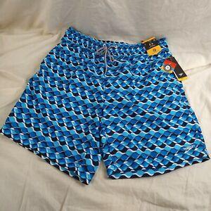 "SPEEDO Swim Trunks 2-Way Stretch Water Repellant 18"" Length Shorts Men's SizeLG"
