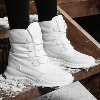 Damen Stiefeletten Gefütterte Wasserdicht Schuhe Schneestiefel Winter Boots Warm