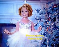 SHIRLEY TEMPLE 8X10 Lab Photo COLOR Magic Wand CHRISTMAS Stunning Portrait