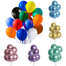 50/100PCs Metallic Latex Party Balloons 12in For Birthday Wedding Decoration