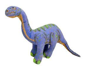 "1992 Vintage Applause Purple & Green Dinosaur 26"" Long Stuffed Animal Toy Plush"