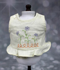 2002 American Girl Doll of Today Gardening Outfit Linen TOP ONLY Flowers