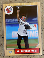 2020 Dr. Anthony Fauci Opening Day First Pitch Wood Baseball Card PRO GEM