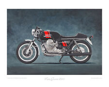 Limited Edition Motorcycle Print - Moto Guzzi 750S (1974)
