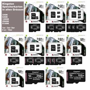 Memory Card Kingston Canvas Select Plus Micro SD 32GB 64GB 128GB 256GB 512GB