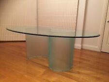 """Designer Glass """"S"""" Oval Dining Table"""