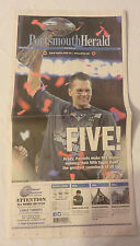 New England Patriots Win Super Bowl Portsmouth Herald Newspaper 2/6/17 - Five -