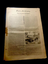 "1893 Farm Machinery ""Who Invented The Reaper?"" 5 Pg. Article Cyrus McCormick"