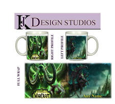 World of Warcraft Illidan Personalised  Fan Mug