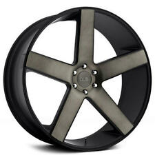 "4ea 30"" Dub Wheels Baller S116 Black with Machined Face / Dark Tint Rims(S41)"