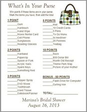 24 Personalized WHAT'S IN YOUR PURSE Bridal Shower Game