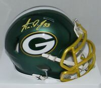 AARON JONES AUTOGRAPHED SIGNED GREEN BAY PACKERS BLAZE SPEED MINI HELMET JSA