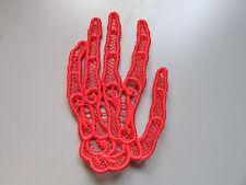 Pizzo ricamato mano di scheletro Applique per cucito/costumi/artigianato (Qualsiasi colore)