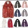 Women Christmas Snow Printed Scarf Wrap Silk Shawl Fashion Causal Travel Scarves