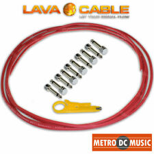 Lava Cable Pedal Board Kit 20 FT Red Tightrope Solder- Cable 18 V2 Plugs