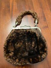 Antique Fur Handbag Purse Vintage