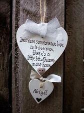 Silverheaven nella nostra home-Memoriale Ornamento di Natale-handmade-cuore personalizzato