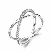 JewelryPalace X Marks Runde Zirkonia Cocktail Ring 925 Sterling Silber