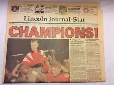 "1995 Lincoln Journal-Star Nebraska Cornhuskers ""CHAMPIONS"" Osborne"