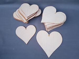 HEART SHAPE LARGE WOODEN HEARTS PLAYWOOD CRAFT SHAPES UNPAINTED 20-25 cm BULK