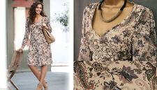 Chiffon V-Neck Paisley Dresses for Women