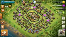 Clash of Clans TH11, 10.000Gems, Change Name, Heroes 45/45/20, Level 156.