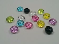 50 Transparent Acrylic Beads, Faceted Abacus, Mixed Color, about 8x5mm