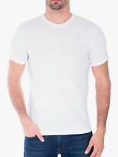 Men's Gem Rock Solid White Crew Neck T-Shirt Size 4X-Large Lot of (5) Brand New!