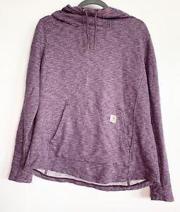 EUC Carhartt Heather Purple Logo Pullover Hoodie Size Large 12/14
