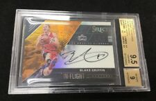 BLAKE GRIFFIN 2016-17 Panini Select Basketball Flight Orange Auto 28/60 BGS 9.5