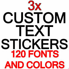 CUSTOM TEXT STICKERS PERSONALISED LETTERING NAME FUNNY Van/Car/Shop Window Decal