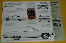 1974 Pontiac Grand Ville grandville Convertible 455 ci IMP Info/Specs/photo 23x8
