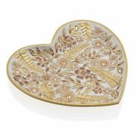 Jay Strongwater Aria Floral Heart Trinket Tray 18K gold SDH6610-281