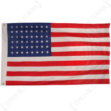 More details for vintage style us flag 48 stars - ww2 american repro classic 100% cotton army new