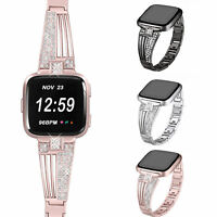 For Fitbit Versa 2 Stainless Steel Strap Metal Wrist Watch Band Bracelet