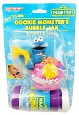 Seasame Street Cookie Monster Bubble Jar Maker Blow Machine 1990s Vintage Rare